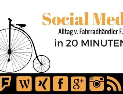 Social Media Alltag in 20 Minuten