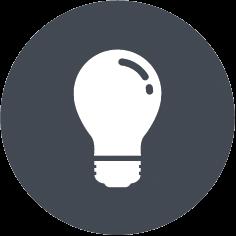 Glühbirnen-Icon, das verdeutlicht, dass das webZunder Social Media-Training Ihnen Insiderwissen vermittelt und als Wissenstransfer im Sinne von Hilfe zur Selbsthilfe angelegt ist.