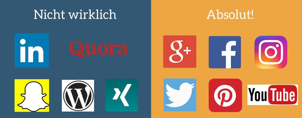 Welche Social Media-Plattformen arbeiten mit Hashtags?