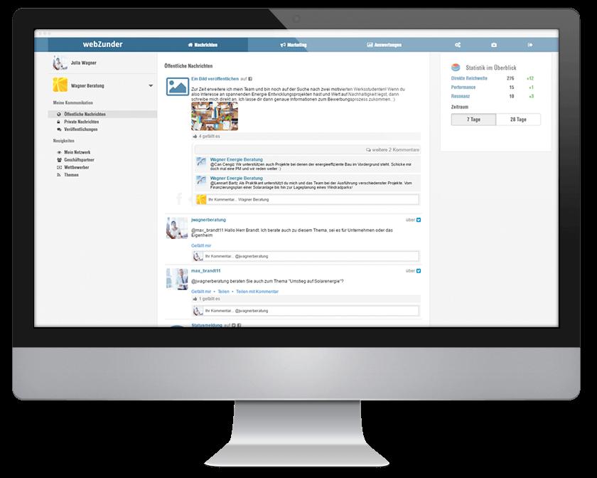 Social Media Management mit webZunder